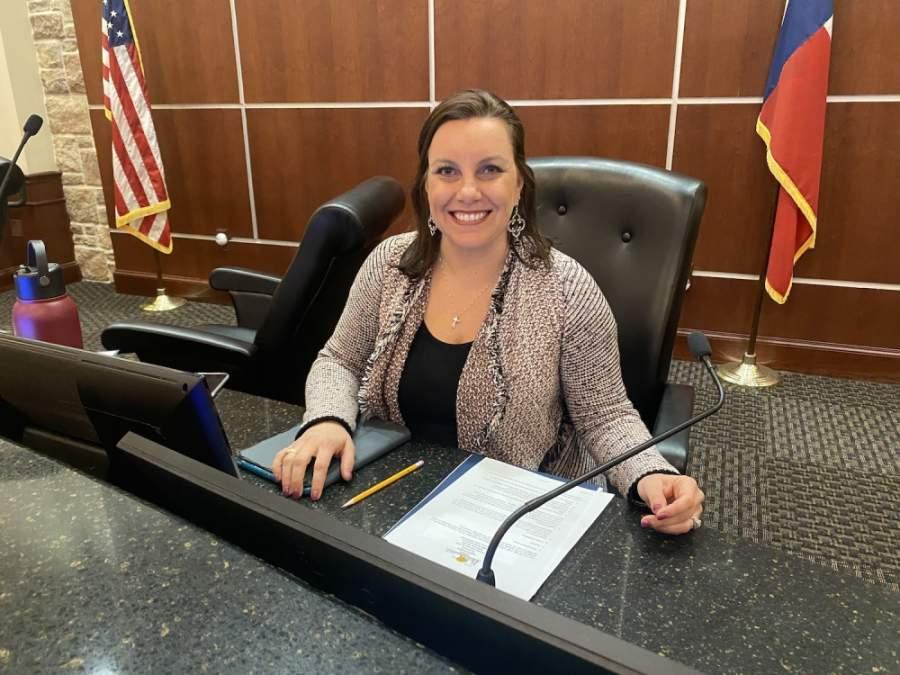 Kara King took her official oath of office May 12 as mayor of Bee Cave. (Brian Rash/Community Impact Newspaper)