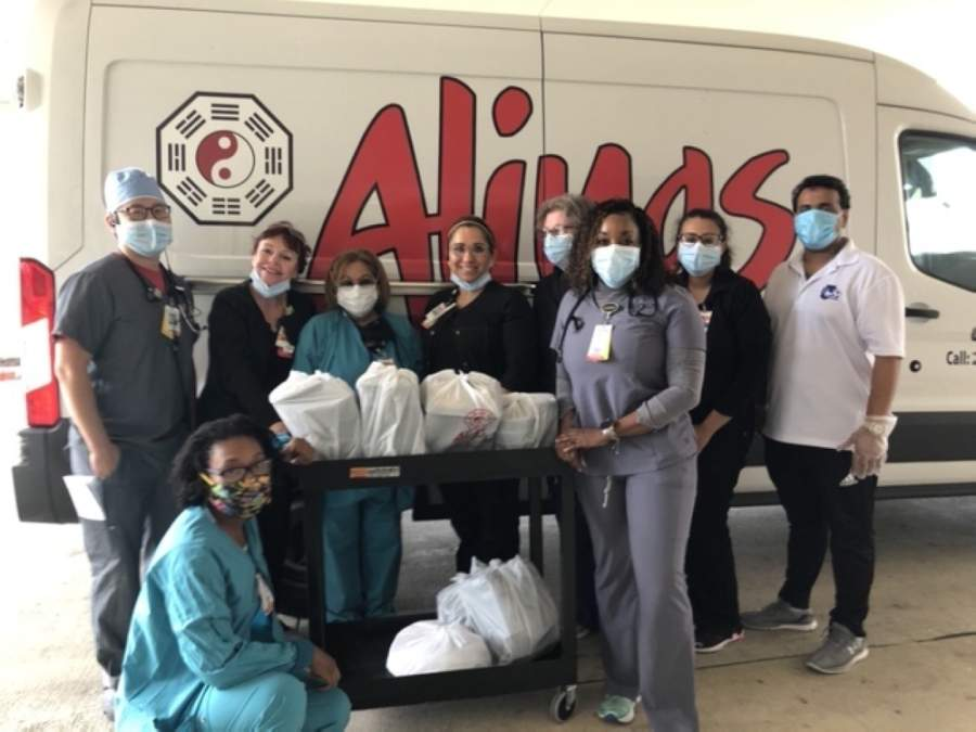 Since the coronavirus pandemic began, Alings has hosted fundraisers, donated personal protective equipment and given away almost 3,000 meals to front-line workers. (Courtesy Alings Chinese Cuisine)