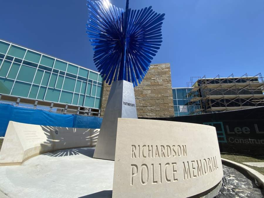The installation was two years in the making. (Courtesy Richardson Police Department)