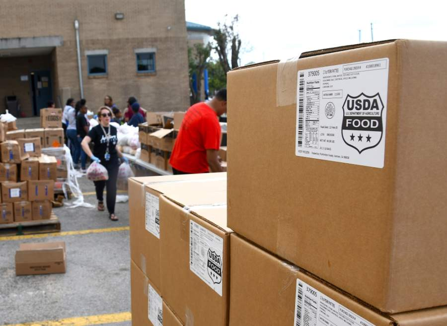 Houston ISD is distributing as much as 15,000 pounds of food per day. (Hunter Marrow/Community Impact Newspaper)