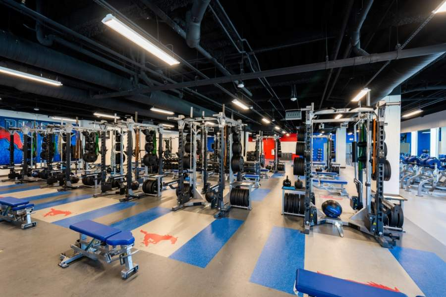 The centers also include fully equipped weight rooms. (Courtesy Richardson ISD)