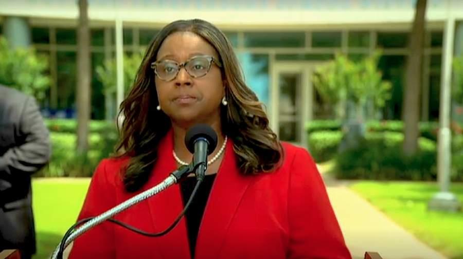Houston ISD interim Superintendent Grenita Lathan said she is exploring multiple options for the 2020-21 school year. (Screnshot via HISD TV)