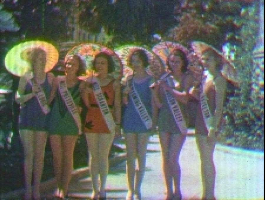 This is a screen capture of 1931 Kodacolor film of Galveston, Texas, restored to color in 2020. (Courtesy of Texas Archive of the Moving Image)