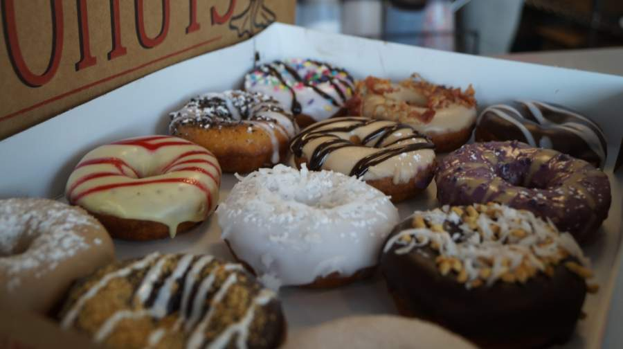 Pflugerville's Duck Donuts will match donations received by area customers through May 20 and will deliver doughnuts at the end of the week to front-line workers or essential businesses.  (Kelsey Thompson/Community Impact Newspaper)
