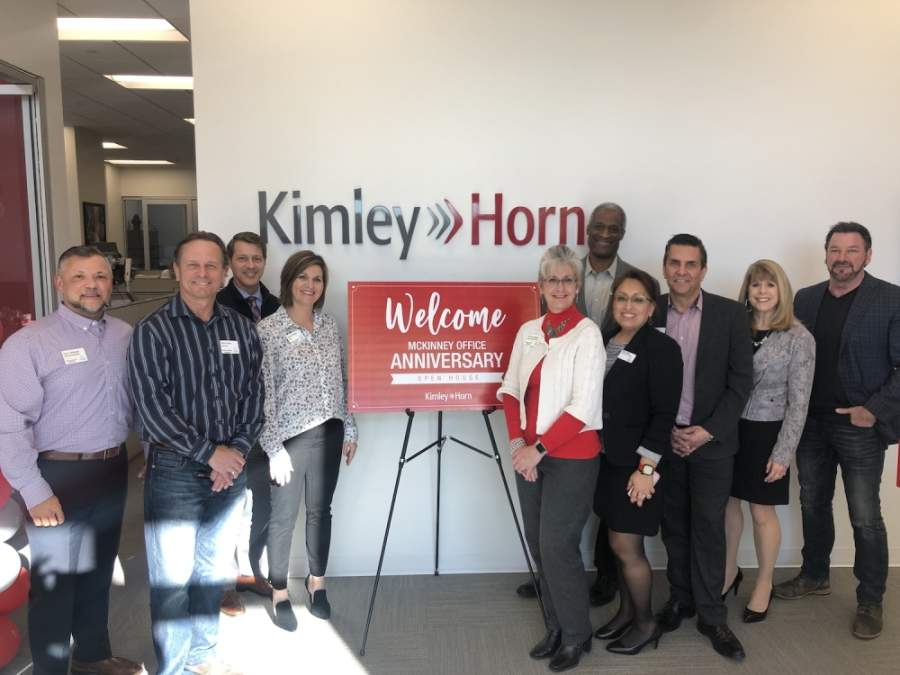 Kimley-Horn's McKinney office celebrated its fifth anniversary in early February. (Courtesy Kimley-Horn)