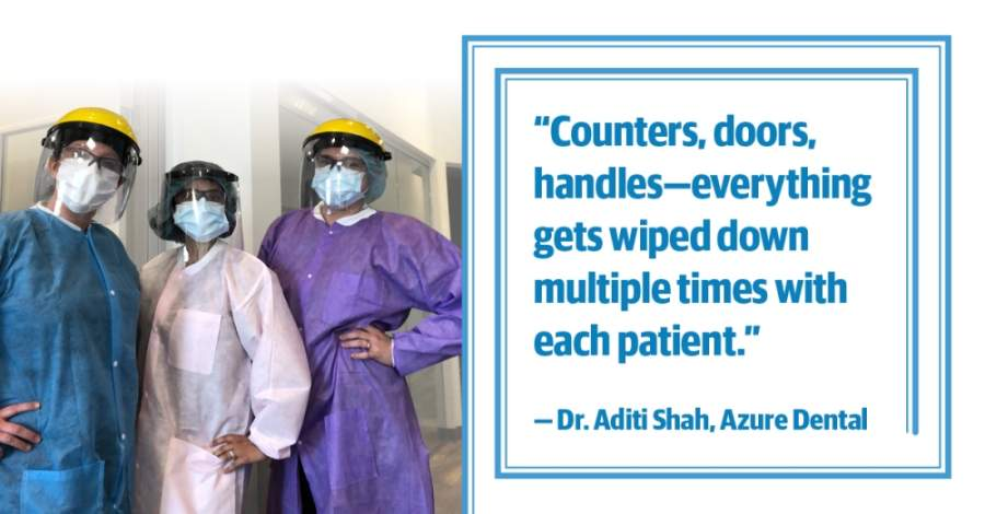 (photo courtesy Azure Dental, design by Ellen Jackson/Community Impact Newspaper)