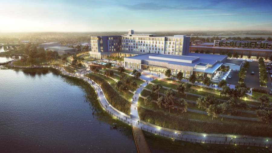 The Katy Boardwalk project will feature a conference center and hotel alongside a 90-acre lake. (Courtesy Kaplan Public Relations)