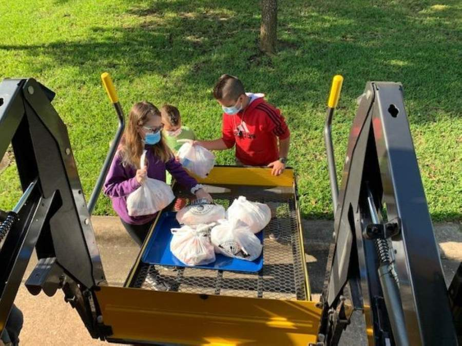 Magnolia ISD now delivers meals on Mondays and Wednesdays to specific elementary attendance zones. (Courtesy of Magnolia ISD)
