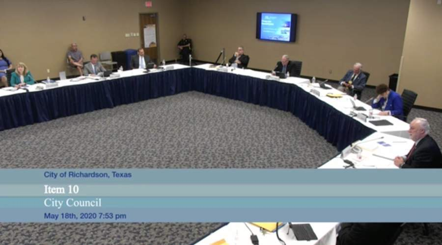 Council was briefed on the coronavirus's impact on Richardson's budget at a May 18 meeting. (Courtesy Citizens Information Television)