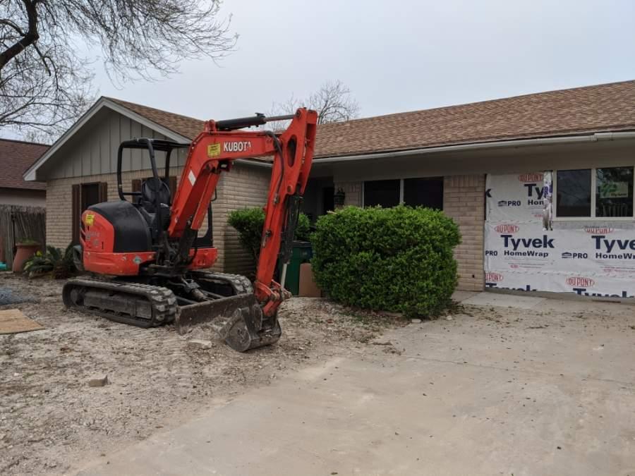 North Austin home under renovation