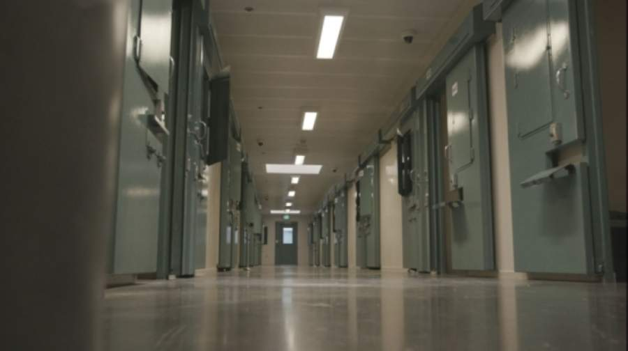 A photo of a hallway inside a jail
