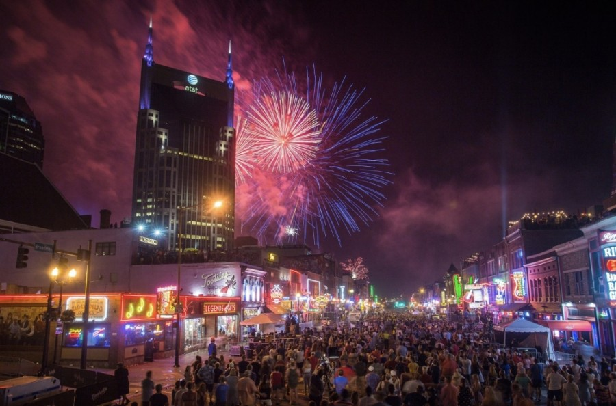 More than 300,00 people attended the event in downtown Nashville in 2019. (Courtesy Nashville Convention and Visitors Corp.)