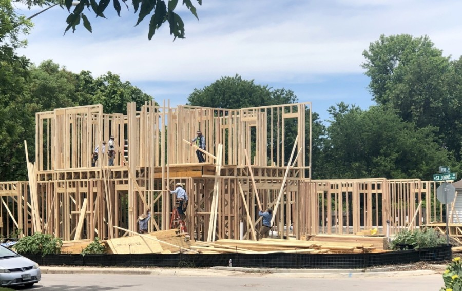 Data from the Austin Board of Realtors showed that new and existing home construction dropped significantly in April. (Jack Flagler/Community Impact Newspaper)