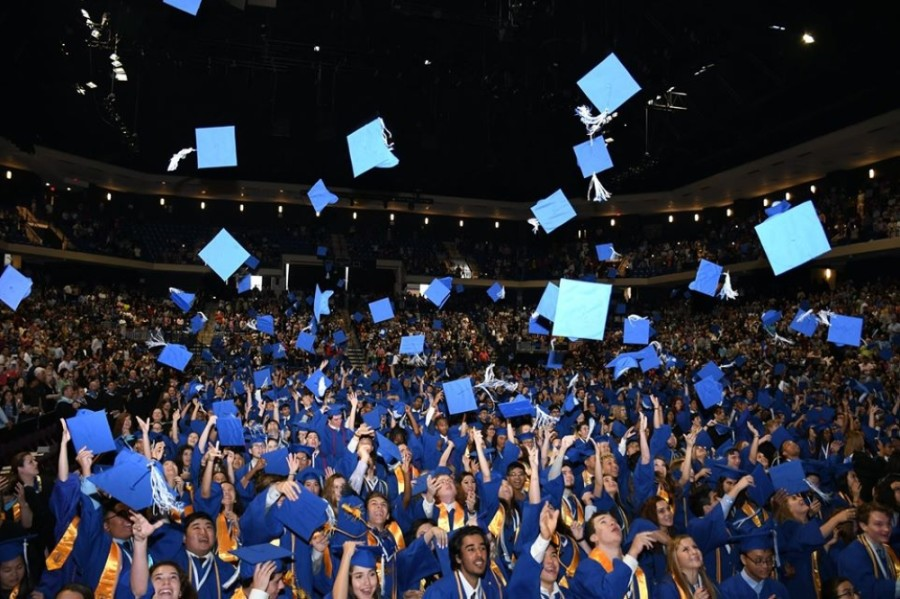 Cypress Creek High School's class of 2019 celebrates graduating at the Berry Center in May 2019. (Courtesy Cy-Fair ISD)