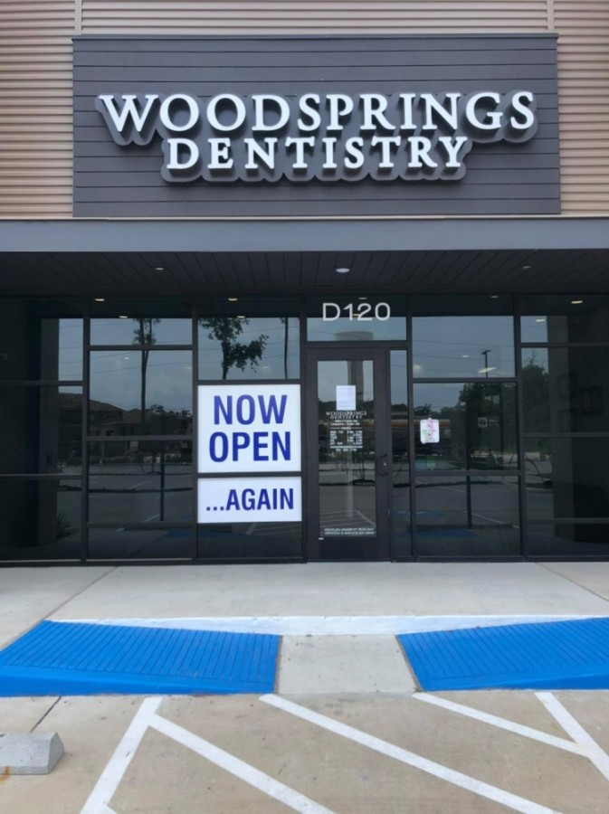 WoodSprings Dentistry reopened May 4, after closing like many other area dentists in early March due to coronavirus. (Photo courtesy WoodSprings Dentistry)
