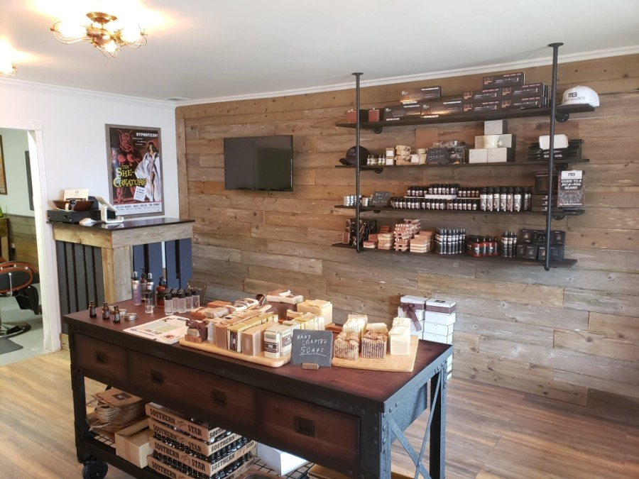 The business specializes in high-quality men's grooming products, including beard oils, balms, washes and scrubs; handcrafted soaps; lotions; and more. (Courtesy ManBasics)