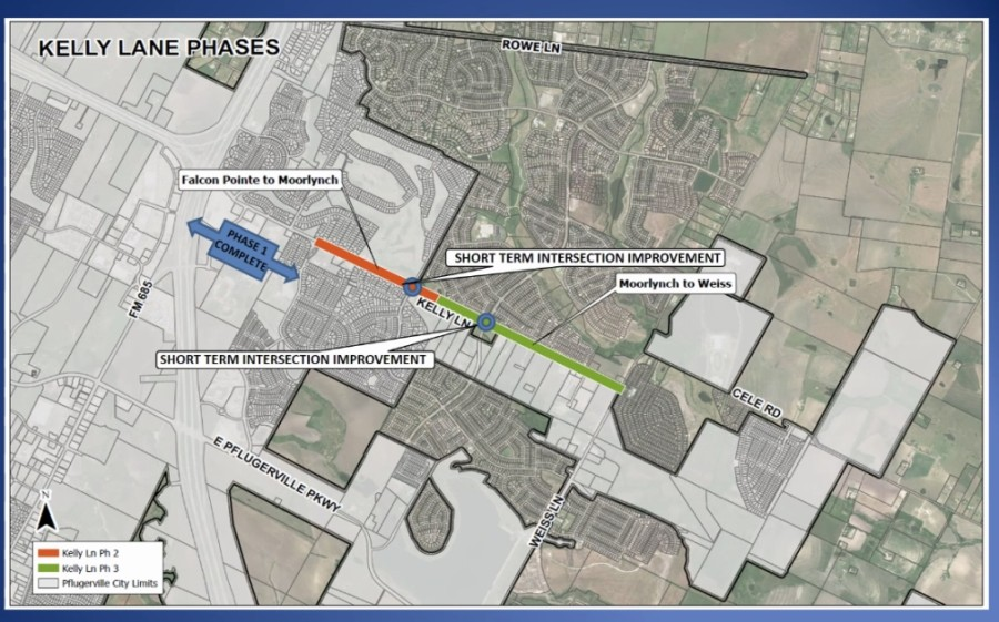 The Kelly transportation project is designed to widen the roadway from its existing two-lane configuration to a four-lane divided road. (Screenshot courtesy city of Pflugerville)
