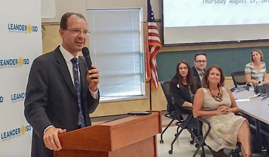 Leander ISD Superintendent Bruce Gearing (Brian Perdue/Community Impact Newspaper)