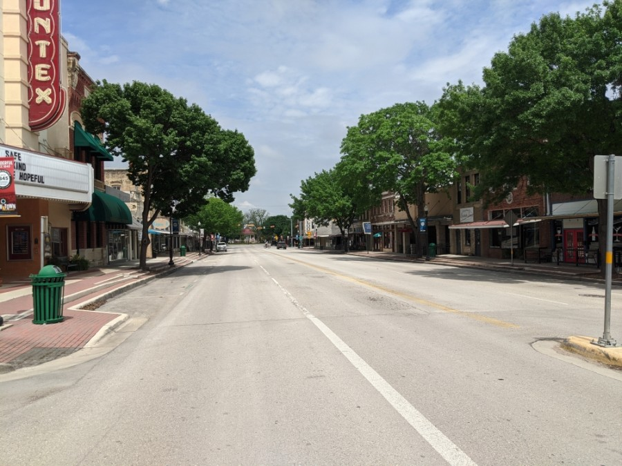 San Antonio Street in downtown New Braunfels. (Warren Brown/Community Impact Newspaper)
