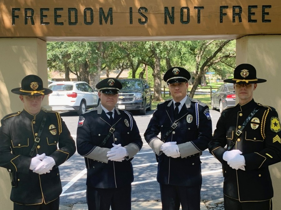 Officers from Lakeway and Bee Cave will participate in the virtual Memorial Day celebration. (Courtesy City of Lakeway)