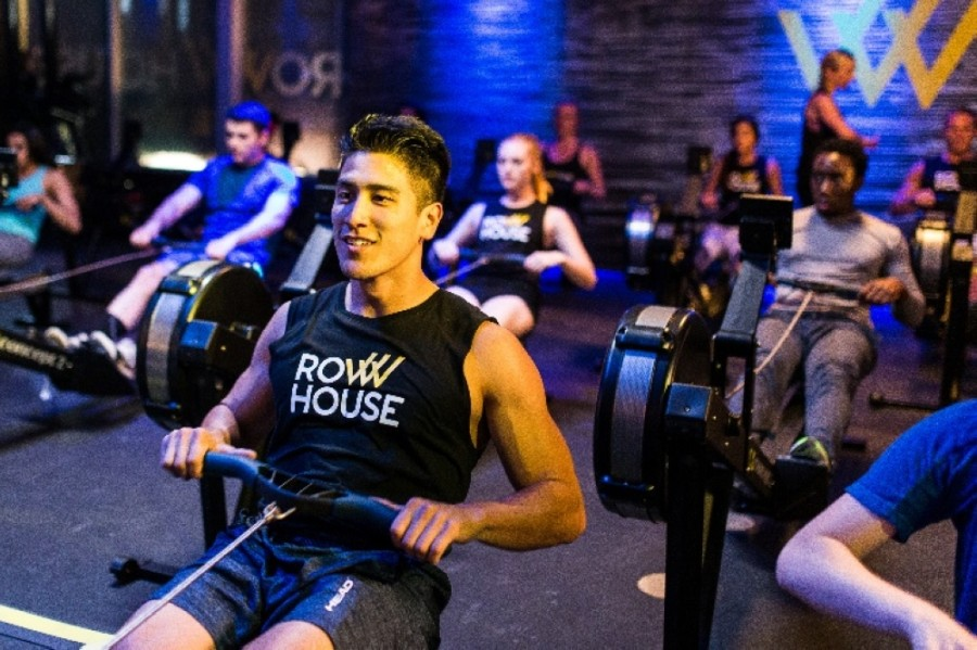 The new studio offers single-station workouts on state-of-the-art rowing machines. (Courtesy Row House)
