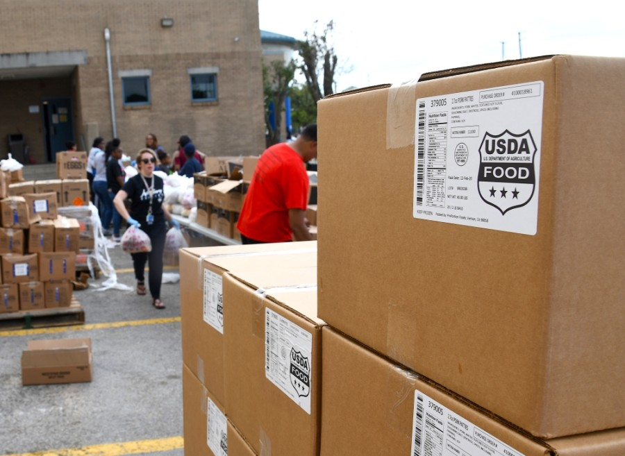 Houston ISD was distributing as much as 15,000 pounds of food per day during its 10-week community program, which wrapped up May 22. (Hunter Marrow/Community Impact Newspaper)