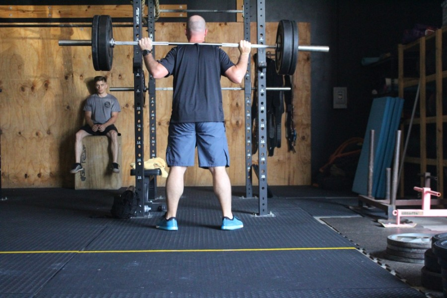 Gym goers at Crossfit Enoch in Conroe were back to heavy lifting May 20. (Eva Vigh/Community Impact Newspaper)
