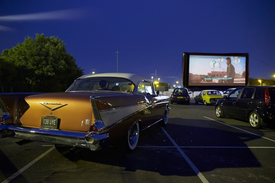 The Drive-In in Spring will be located next to Hurricane Harbor Splashtown at 21300 I-45 N., Houston, and is the cinema club's second Houston-area location, following The Drive-In at Sawyer Yards, which opened May 12. (Courtesy Rooftop Cinema Club)