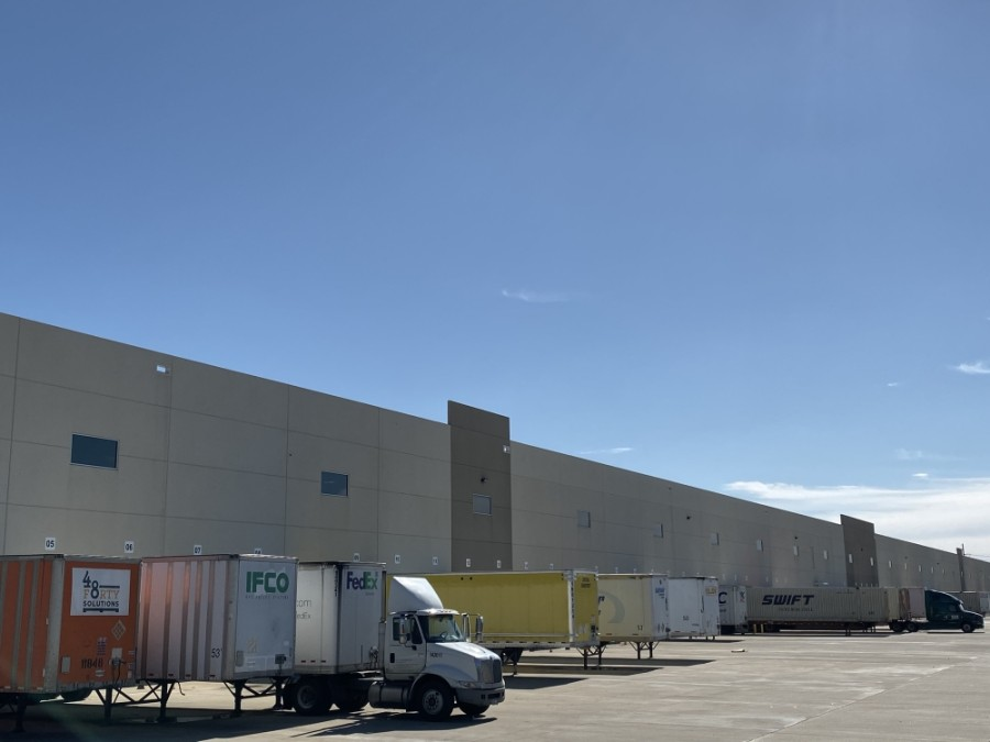 The distribution center will target tenants that need high-volume storage, such as an e-commerce business, according to owner John Bunten. (Anna Herod/Community Impact Newspaper)
