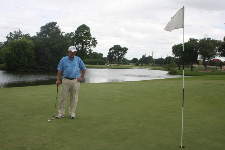Matt Jones, chief golf professional at the Jersey Meadow Golf Course, stands on the fairway in August 2016. Jones said May 2020 is on pace to be the busiest month in the course's history since at least 2000. (Danica Smithwick/Community Impact Newspaper)