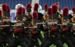 The flute section of the Rouse High School marching band from Leander performs in this 2017 file photo. (Courtesy Leander ISD)