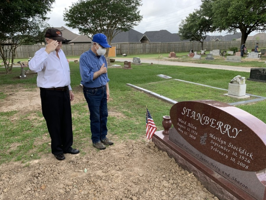 Katy Veterans of Foreign Wars Post 9182 coordinated a small event May 23 to place flags on veterans' graves in honor of Memorial Day. (Courtesy Don Byrne)