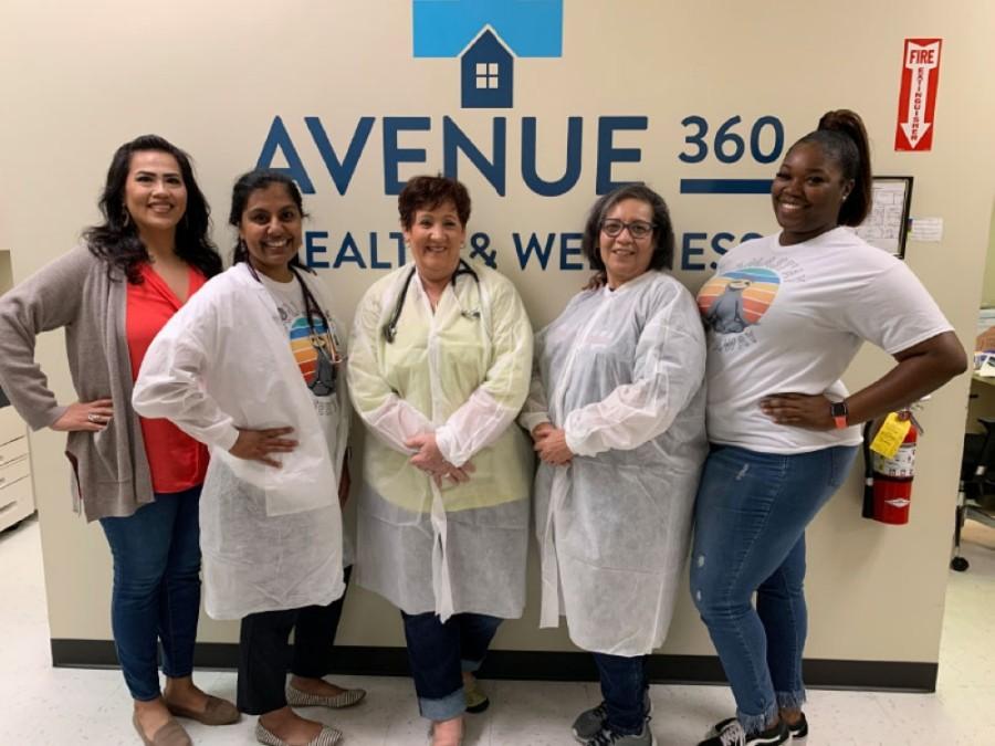 Avenue 360 staff includes (from left) Elida Benavidez, Bettina Raju, Micki Schmidt, Maria Marquez and Dayesha Guidry. (Courtesy Avenue 360 Health & Wellness)