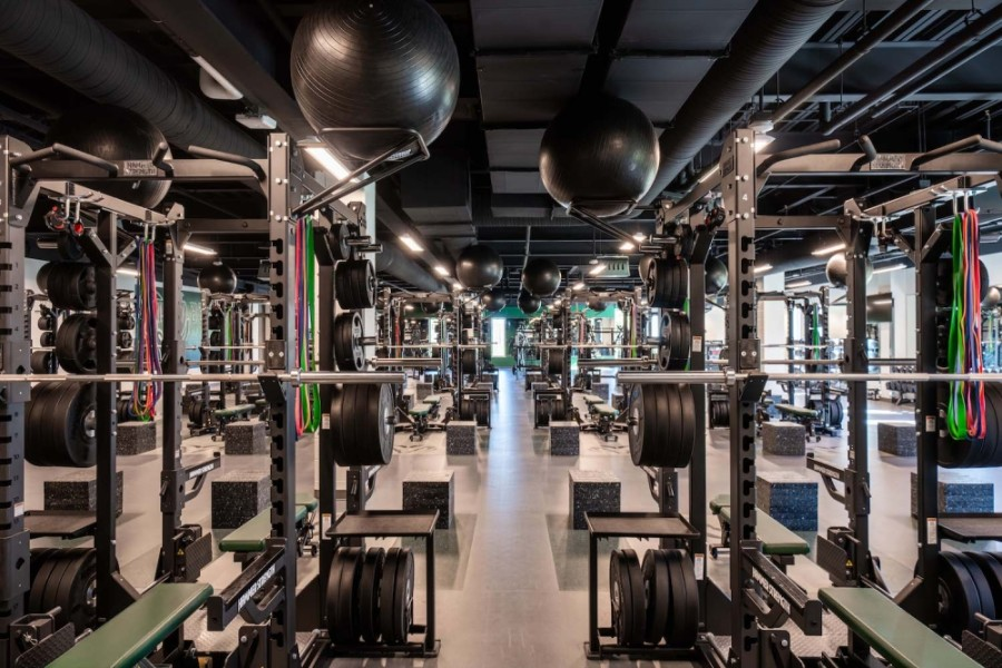 Strength and conditioning workout areas, such as this one at Berkner High School, are part of the new multipurpose activity centers that recently opened in Richardson ISD. (Courtesy The McShane Companies)