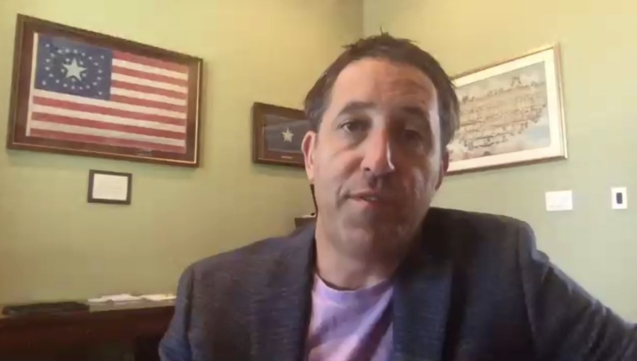 Texas Comptroller Glenn Hegar spoke to members of the Clear Lake Area Chamber of Commerce on May 27 about what the state's post-pandemic economic turnaround might look like. (Screenshot of May 27 virtual luncheon)