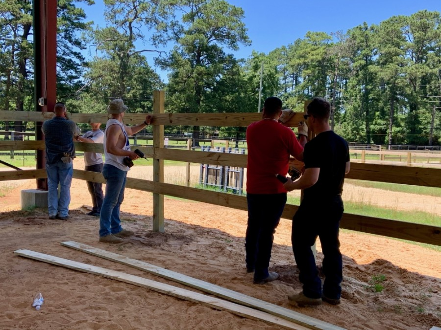 The Texas National Guard assisted Inspiration Ranch with its expansion project May 18. (Courtesy of Inspiration Ranch)