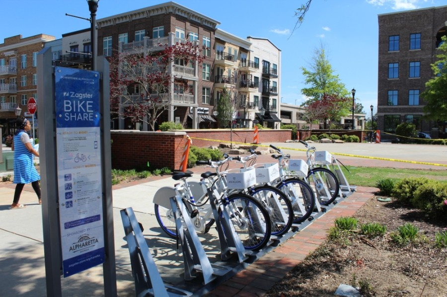 Zagster notified the city of Alpharetta on May 27 that the company would be ending its bike share service with the city effective May 29. (Kara McIntyre/Community Impact Newspaper)