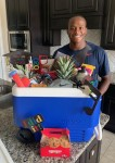 Klein Oak High School graduating senior Christopher Jones II received a variety of gift items from community member Rachael. (Courtesy Allanda Nichols)