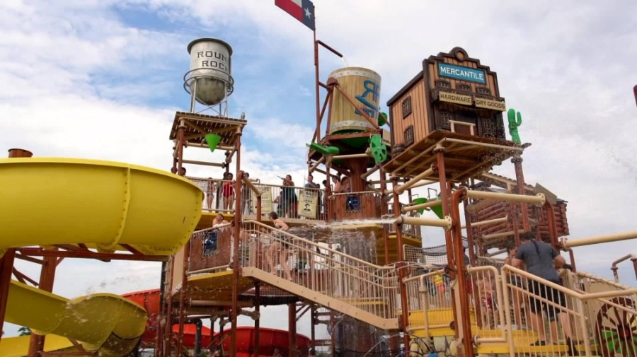 The city-owned water park reopened May 30 for its summer 2020 season, complete with social distancing-friendly safety measures. (Courtesy Rock'N River Waterpark)