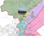 The Gruenefield development is currently in the Hoffman Lane Elementary School attendance zone but could be moved to the Oak Run Elementary School zone. (Courtesy Comal ISD)