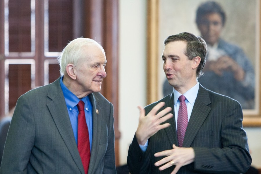 Community member and former U.S. House Rep. Sam Johnson (left) died May 27 in Plano at the age of 89. (Courtesy Van Taylor)