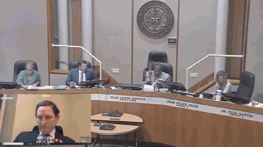Dallas County commissioners on June 2 increased the amount of CARES Act funding it will disburse to area cities. (Courtesy Dallas County Commissioners Court)