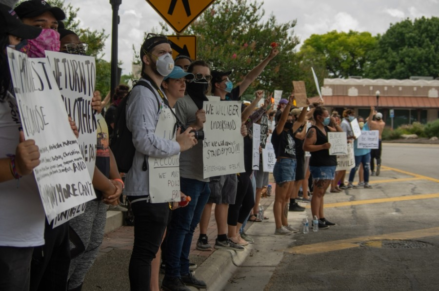 Well over a hundred people participated in the New Braunfels Black Lives Matter Protest.