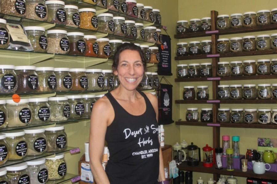 Brittney Sounart owns Desert Sage Herbs in Chandler. (Alexa D'Angelo/Community Impact staff)