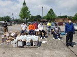 Nasir Malik, Houston chapter of the Ahmadiyya Muslim Community director of public affairs, said the Baitus Samee Mosque has participated in volunteer food drives during the coronavirus pandemic. (Courtesy Houston Tibligh)