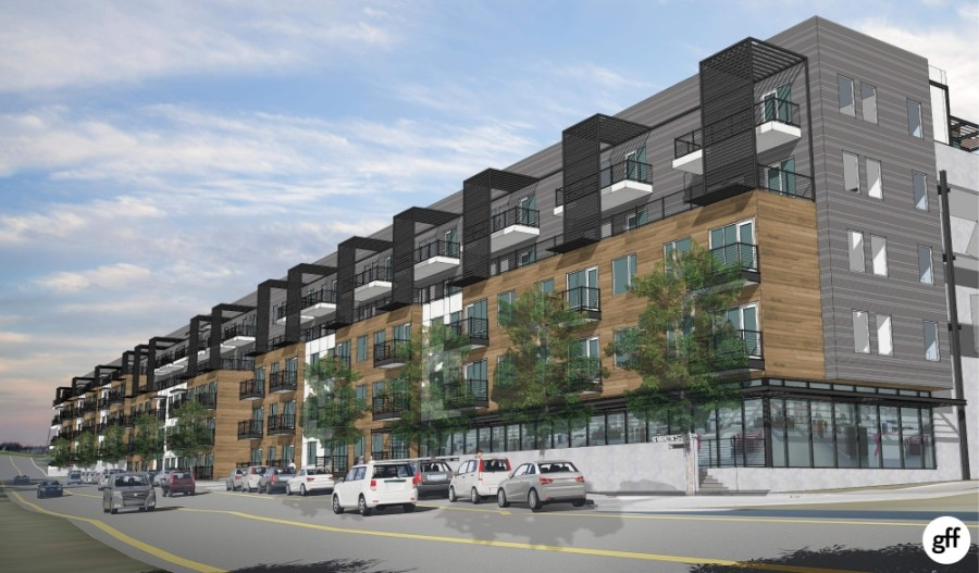 A 323-unit apartment complex will be opening in 2020 off East Riverside Drive in Austin. (Rendering courtesy Aspen Heights Partners)