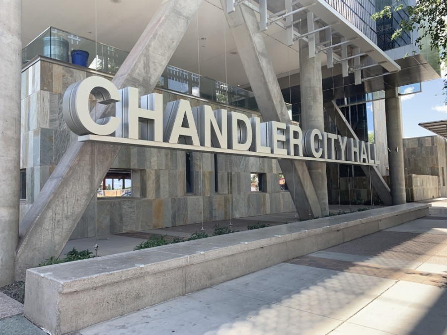 The city of Chandler headquarters is located in downtown Chandler. (Alexa D'Angelo/Community Impact Newspaper)