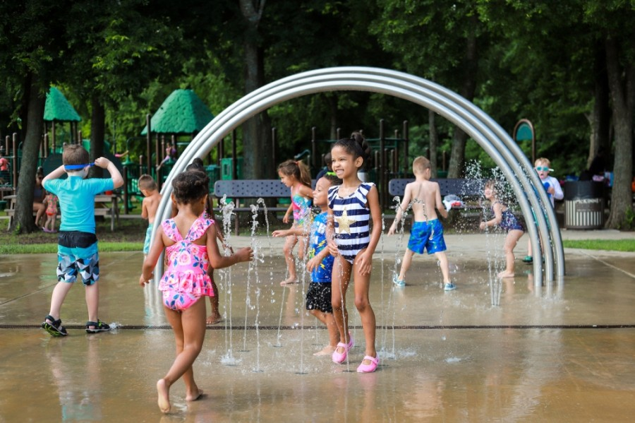The Al Ruschhaupt splash pad in McKinney has reopened for the season. (Courtesy McKinney Parks & Recreation Department)