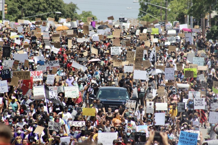 Thousands took to the streets for the Justice for Them All March on June 7. (Christopher Neely/Community Impact Newspaper)