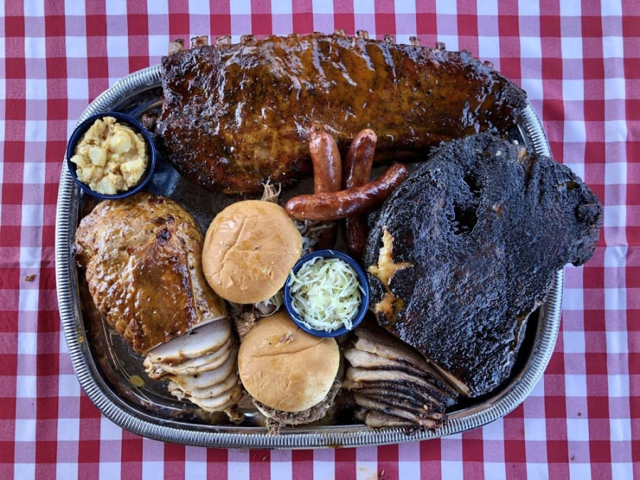 The Salt Lick food truck in Dripping Springs is still open and offers chopped beef and pulled pork sandwiches, sausage wraps, brisket, ribs and sides. (Courtesy Salt Lick BBQ)